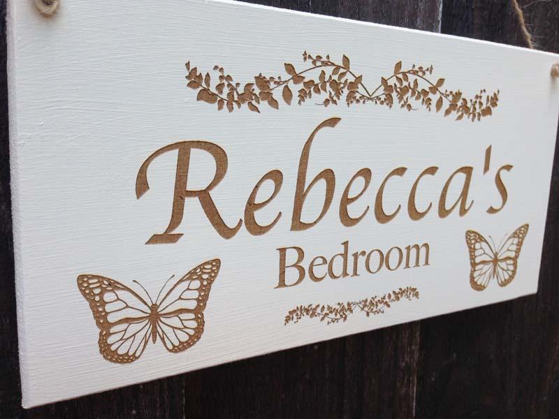 Personalised Bedroom Door Sign Personalised Garden Signs