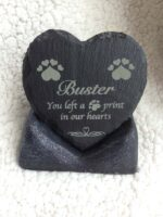 personalised pet memorial in slate