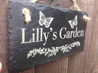 personalised slate garden plaque 02