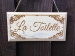 shabby Chic la Toilette sign