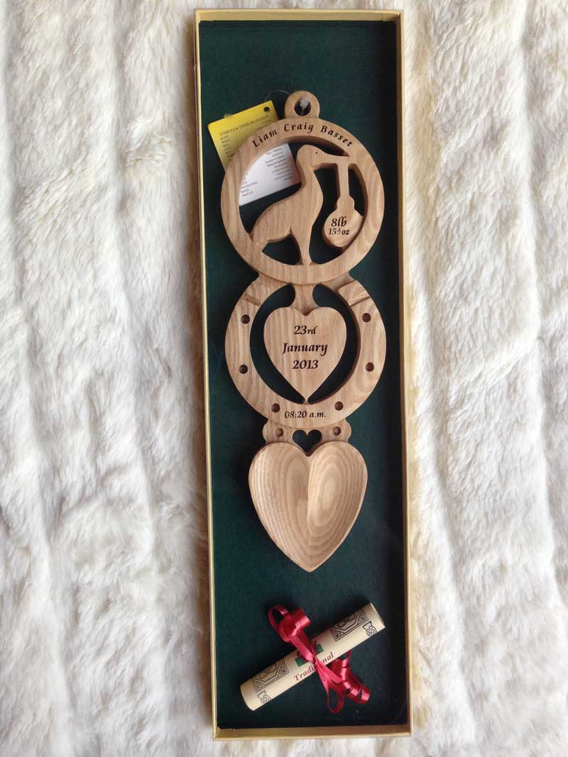 Personalised Christening Welsh Love Spoon Ch1