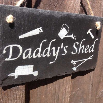 daddys garden shed sign