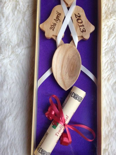 engraved welsh love spoons 15