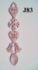 engraved welsh love spoons J83