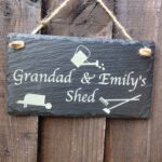 garden signs engraved