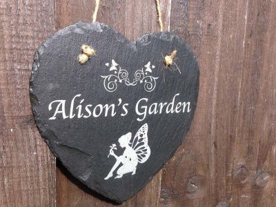 personalised fairy sign for the garden