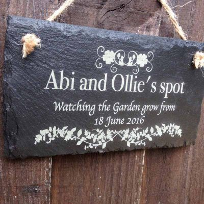 personalised garden signs 114