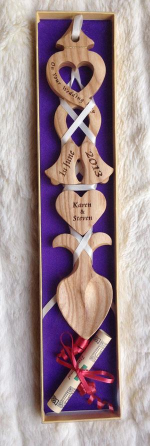 personalised welsh love spoon 012