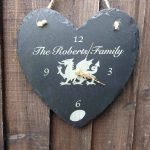 personalised welsh slate clock 09