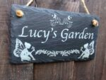 personlaised fairy garden sign