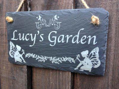 personlaised fairy garden signs