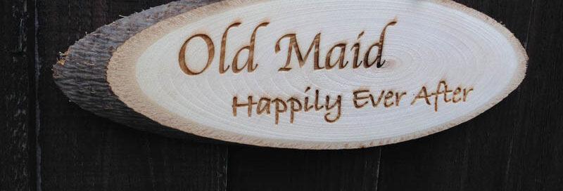 wedding engraved wooden log slice 12