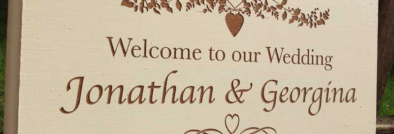 bespoke wedding signs 1