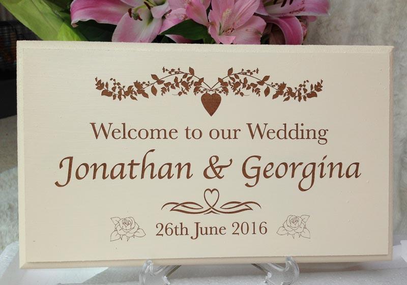 bespoke wedding signs new
