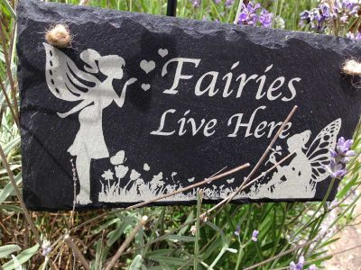 fairies live here sign 2