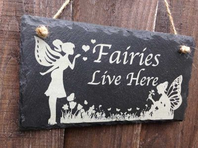 fairies live here sign