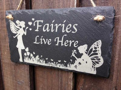 fairy garden sign hanging 1