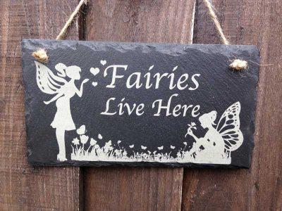 fairy garden sign hanging