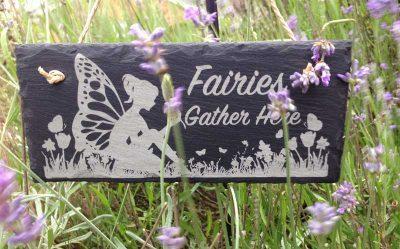 fairy garden sign slate