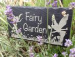 fairy garden sign slate engraved