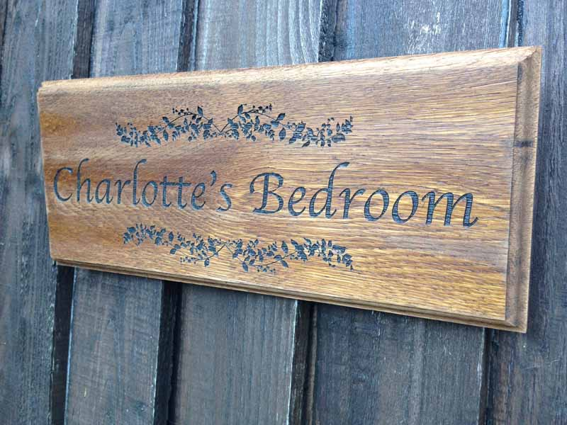 Personalised Oak Sign Darkwood Personalised Garden