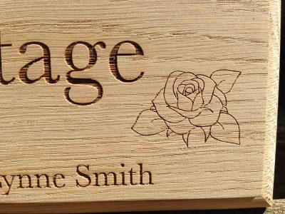 personalised oak sign rose cottage 2