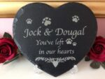 pet memorial large slate heart main
