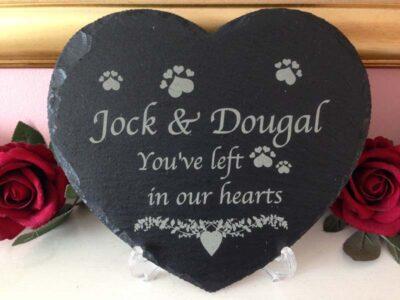 pet memorial large slate heart main
