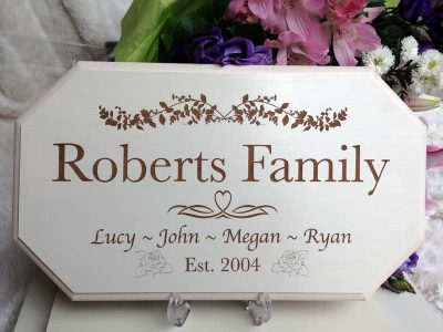 wedding personalised signs family 01