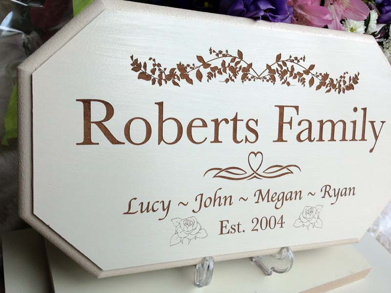 wedding personalised signs family 02