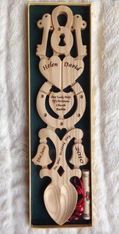 welsh love spoons personalised