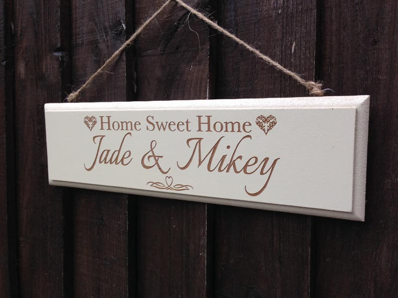 Personalised Home Sweet Home Sign Mdf Or Slate