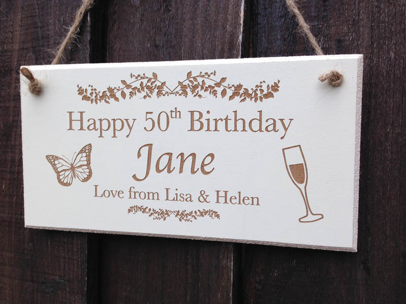 personalised birthday signs