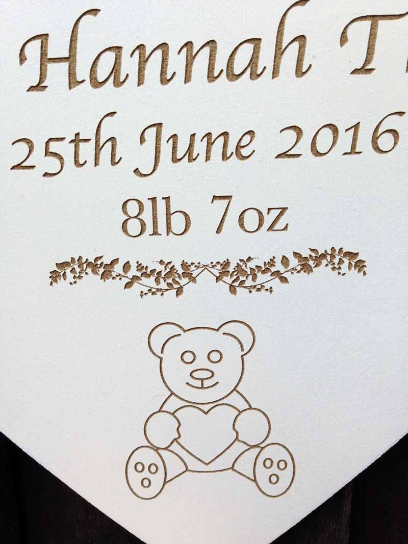 personalised christening signs heart 3