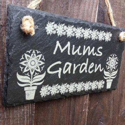 slate garden signs flowers