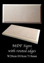 MDF Plaques