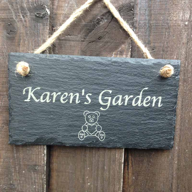 Teddy Bear Garden Shed Sign Personalised Garden Signs