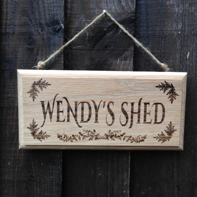 Personalised oak signs