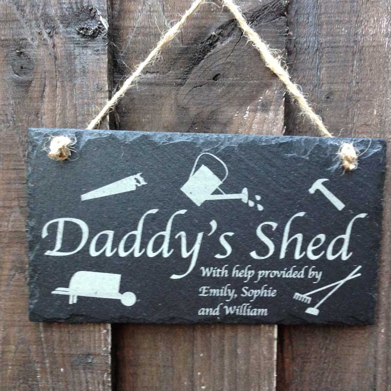 Daddy S Garden Shed Sign Personalised Garden Signs