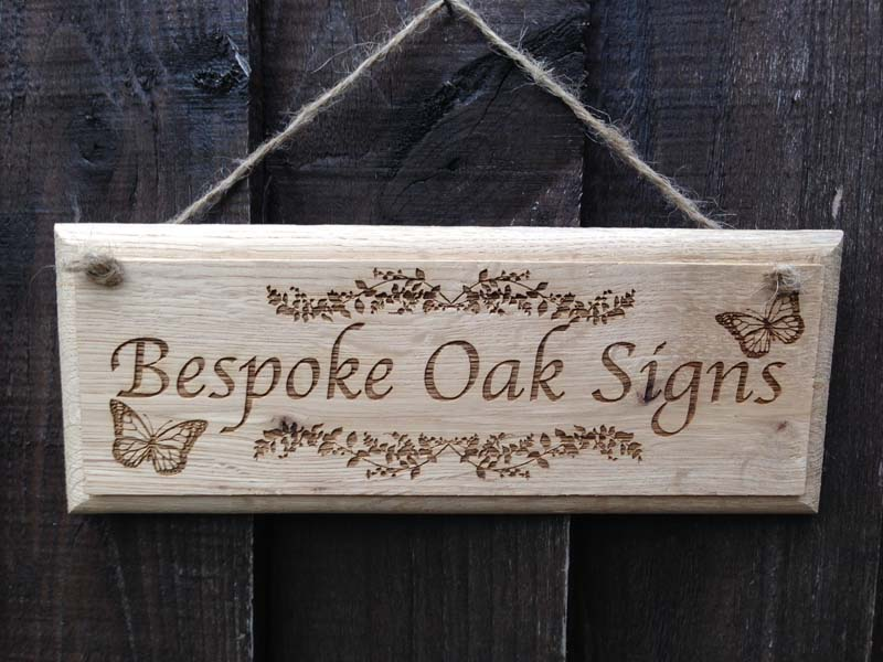 Bespoke Oak Signs Personalised Garden Signs Design A Sign